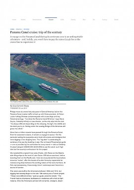 Panama Canal - Cruise of the Century
